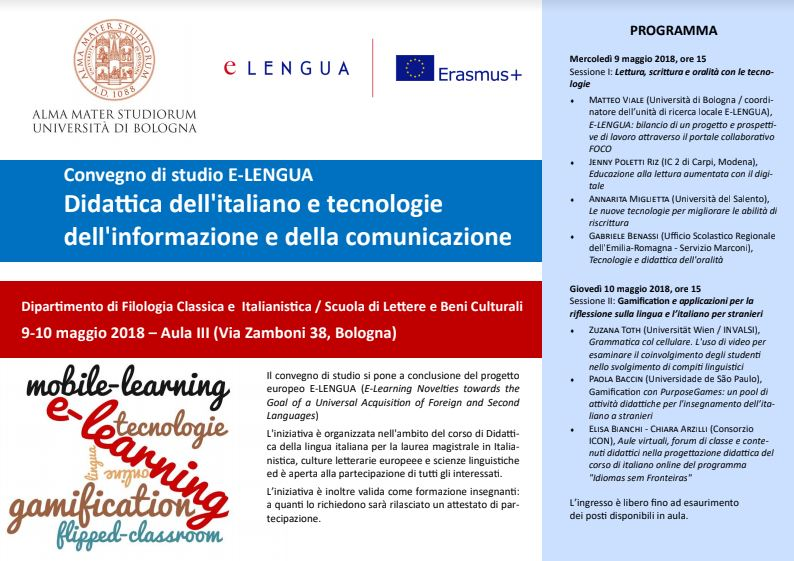 E Lengua Meeting At Unibo Didattica Dellitaliano E Tecnologie Dell